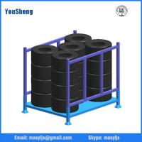 Wholesale Stackable folding truck tyre storage rack wholesale from China from china suppliers