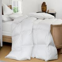 Wholesale Grid Embossing Cotton Duck Down Feather Quilt / Luxurious Washed Thick Comforter from china suppliers