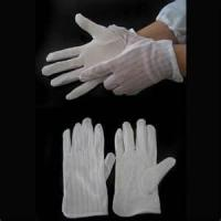 Wholesale Low particles generation breathable anti-slip cotton work glove with PVC coated polyester from china suppliers