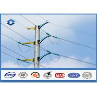 Wholesale 132KV steel tubular poles 8.0 Safety Factor , steel transmission poles BS EN 1011-2 Welding from china suppliers