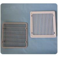 Wholesale OEM ABS Freezer Replacement Parts Ventilation Fence White Gray 212*200*7mm from china suppliers