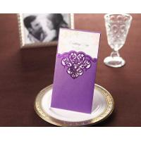 Wholesale Customized wording free printing wedding invitations purple wedding invites card CW2009 from china suppliers