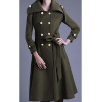 Wholesale Slim New Arrivals Wool Double Breasted women's coat for Winter from china suppliers
