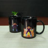 Quality Unique Dragon Ball Color Changing Mug Vegeta Black Ceramic Magic Mug Eco Friendly Ceramic Mugs Heat Sensitive for sale
