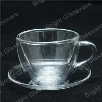 Wholesale mini double wall thermo glasses with handle, double wall mini wine glasses from china suppliers
