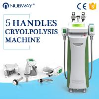 Wholesale 5 Handles rf cavitation cryotherapy cool tech liposuction fat freezing body slimming machine from china suppliers