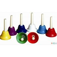 Wholesale Orff Toy Music Instrument , Colorful 8 Note Hand Bell Set from china suppliers