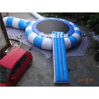 Wholesale 0.9MM Thickness PVC Tarpaulin Different Color Inflatable Water Trampoline from china suppliers