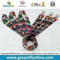 Wholesale Promotional Custom Polyester Neck Lanyards Fashionable Full Heat Transfer Printing from china suppliers