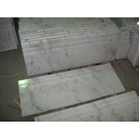 Wholesale China White Marble Stairs Guangxi White Marble Non-Slip Stairs Tread China Carrara Marble from china suppliers