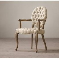 Wholesale Tufted Round Arm Fabric Covered Leather Dining Chair , Elegant / Zebra Print Dining Chairs from china suppliers