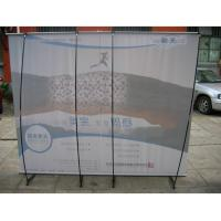 Wholesale Retractable 150gPVC Roll UP Portable Cheap Steady L - Banner Stand For Church from china suppliers