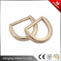 Wholesale MH-4546 zinc alloy d ring buckle,casual backpack metal d buckle with polishing from china suppliers