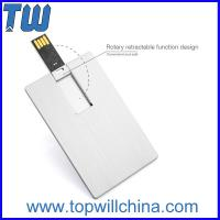 Wholesale Hotsale Stainless Metal Swivel Credit Card Size 2GB Usb Flash Memory with Fashion Design from china suppliers