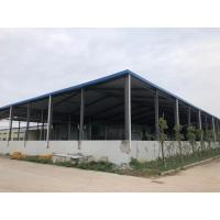 Wholesale Steel Frame Structure Construction With Bule Roofing Sheet And Grey Steel from china suppliers