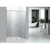 Wholesale Stainless Steel Handle Bathroom Framed Sliding Shower Doors 1400MM With Chrome Profile from china suppliers