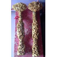 Wholesale Pistacia chinensis Chinese carved Ruyi in 60 cm natual wood colour from china suppliers