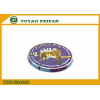 Wholesale Purple Miami Ept Ceramic Poker Chips Professional With A Lovely Dog from china suppliers