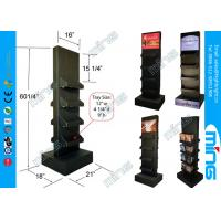 Wholesale Glossy Lamination Black Cardboard Display Stands with 8 Shelves, Double Sided from china suppliers