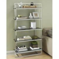Wholesale Durable Contemporary Metal Shelf Rack Silver For Book Display from china suppliers