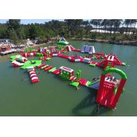 Wholesale Red and Green Moving Inflatable Aqua Water Park For Sea Or lake from china suppliers