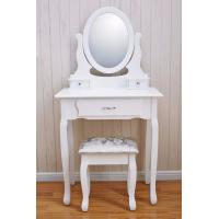 Wholesale Best Selling Wooden makeup vanity dressing table Vanity table Cushioned Stool from china suppliers