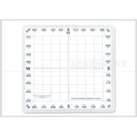 Wholesale Aviation Passion Plastic Square Standard Protractor For adult pilot 108 * 108 Mm from china suppliers