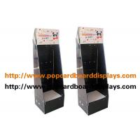 Wholesale Custom Strong Hard Cardboard Floor Displays For Sock Show , Black Color from china suppliers
