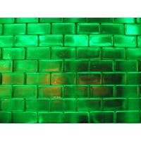 Wholesale Blue/Green/Pink Derorative Glass Brick 190*190*80mm from china suppliers