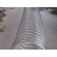 Wholesale Cbt60 Single Coil Razor Barbed Wire Hot Dip Galvanized For Secure Protection from china suppliers