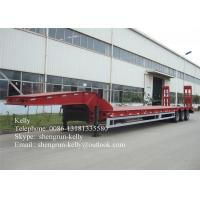 Quality SKW9402TDP Drop deck semi trailers with 10 / 10 / 10 leaf spring suspension for sale