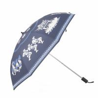 Quality Customized Printing Two Folding Travel Umbrella Women's Sunproof Light Weight Parasol for sale