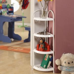 Wholesale Mobile Bathroom Corner Storage Shelves , Adjustable Plastic Corner Shelf Multiple Function from china suppliers
