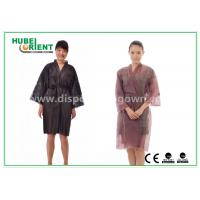 Wholesale Breathable Disposable Kimono Robe Nonwoven Sauna Gown / Bathrobe Beauty Center Using from china suppliers