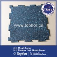 Wholesale Gym rubber floor tile/fitness room rubber gym mats/rubber flooring from china suppliers