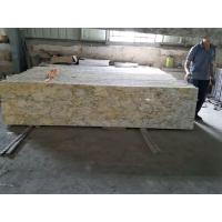 Quality River Yellow Golden Granite Overlay Countertops Hotel Reception for sale