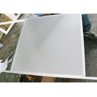 Wholesale Perforated Lay on Suspended Metal Ceiling with White Tee Bar Installation from china suppliers