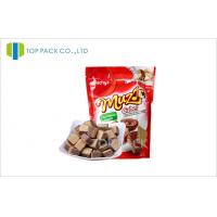 Wholesale Glossy Red Snack Foods stand up pouch bag Aluminum Foil Resealable Bags from china suppliers