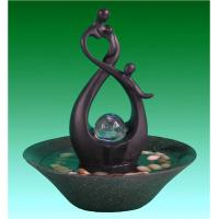 Wholesale 10' Happy Family Table Top Water Fountains Sculpture Water Fountain With Fengshui Ball from china suppliers