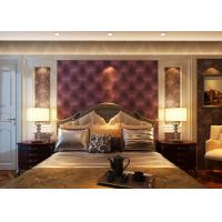 Wholesale European Style Leather Wallpaper Luxury 3D Effect Contemporary Purple Wallpaper from china suppliers