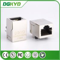 Wholesale Tab up shielded 100 base tx rj45 connector pcb mount with magnetics , KRJ-H001WDNL from china suppliers