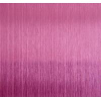 Wholesale HL Pink Hairline Stainless Steel Decorative Sheet For KTV Indoor Decoration Plate from china suppliers