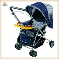 Quality Blue Aluminium Umbrella Baby Buggy Jogging Stroller With Hand Brake for sale