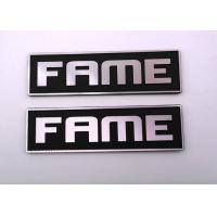 Wholesale Customised Paint Black Embossed Metal Tags Logo With Diamond Knife Grain from china suppliers