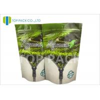 Wholesale Gravure Printed Flat Foil Stand Up Bags , tea packaging pouch Zip Lock Closure from china suppliers