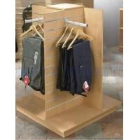 Wholesale Garment Clothing MDF Wood Slatwall Display Stands With Metal Hangers from china suppliers