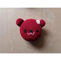 Wholesale Knitted Kickballs Crochet Toy Squeaky Piggy Dog Toy from china suppliers