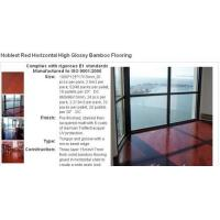 Quality Noblest Red Stained Color Bamboo Flooring for sale