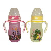 Wholesale Professional Glass Baby Feeding  Bottle Wide Neck With Colorful Printing from china suppliers