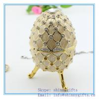 Wholesale decorative egg jewelry box Faber egg /wedding gift Easter egg from china suppliers
